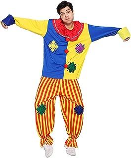 2 Taglie Adulto Pantaloni Uomo Del Circo Costume Colorato FRAC CLOWN