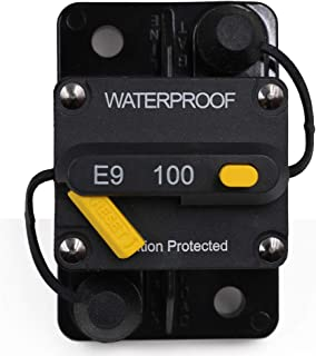 T Tocas 100 Amp Circuit Breaker with Manual Reset, 12V- 72VDC, Waterproof (100A)