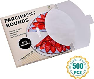 Parchment Paper Rounds-500,8 Inch Cake Pan liners, 4