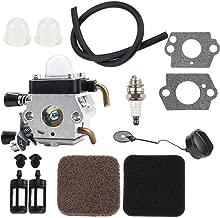 Kizut C1Q-S97 C1Q-S186 Carburetor for Stihl FS80 FS45 FS55R FS85 FS80R FS55 FS38 FS46 HS45 HS80 KM55R FS55RC Trimmer + Primer Bulb Air Filter Tune Up Kit