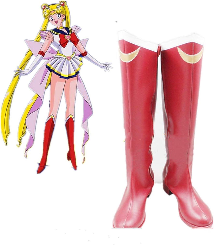 YOUYI Sailor Moon Usagi Tsukino Imitated Leather Cosplay shoes Halloween