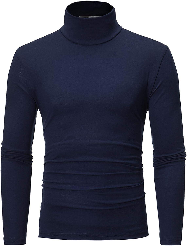 Men's Turtleneck Award-winning store Pullover OFFer Tops Long Sweater Thermal Sleeve Stret