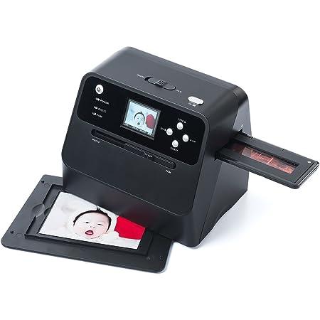 サンワダイレクト フィルム&写真スキャナー 1400万画素 ネガ/ポジ モニタ付 SD保存 USB充電式 400-SCN041