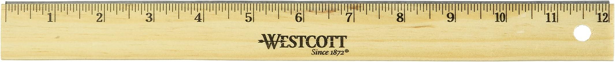 """Westcott Wood 12"""" School Ruler Scaled in 1/16"""" (103810)"""