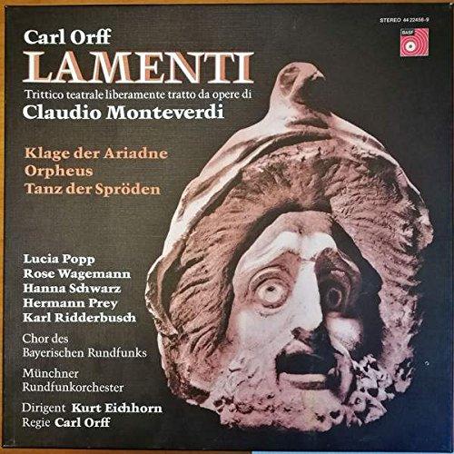 Carl Orff - Lamenti Trictico Teatrale Liberamente Tratto Da Opere De Claudio Monteverdi - BASF - 40 22458-9