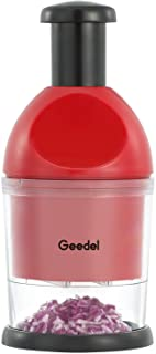 Geedel Food Chopper, Easy to Clean Manual Hand Chopper Dicer, Slap Press Chopper Mincer for...