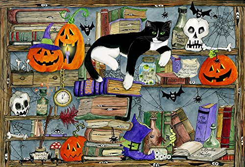 Halloween House Cat Kids Jigsaw Puzzle 100 Piece