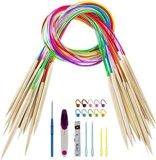 QINGMU かぎ針セット 編み針 輪針 棒針キャップ 編み物 とじ針 段数マーカー 目数段数計 ハサミ 巻尺