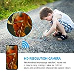 Wireless Digital Microscope Handheld USB Microscope Camera with 8 adjustable LED Lights HD 1080P Wi-Fi Endscope 50x to 1000x Magnification Compatible with Android, IOS Phone, Table,PC Built-in Battery