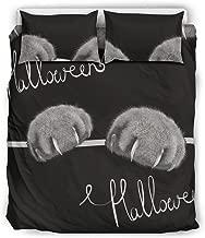 Stormruier Ornate Duvet Cover Set Bed Set 3 Pieces Bedding Set with Pillow Shams White 229x229cm