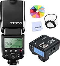 Godox TT600 HSS 1/8000S 2.4G Wireless GN60 Flash Speedlite Built in Godox X System Receiver with X2T-C Trigger Transmitter Compatible Canon Camera