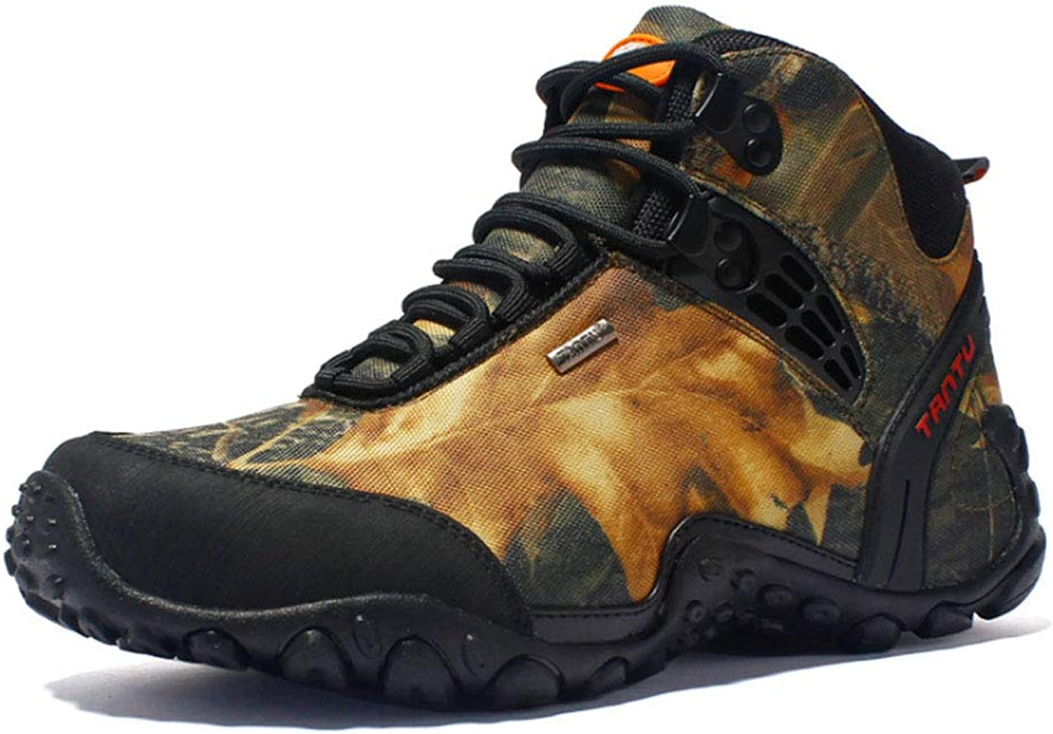 HYLFF Men's Outdoor Hiking shoes Warm wear-Resistant Casual high-top Mountain Boots Breathable shoes Large Size