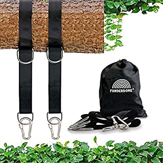 Funderdome Tree Straps, Tree Swing Straps, Tree Swing Straps Hanging Kit Holds 4000 lbs, Set of Two 5ft Extra Long Straps ...