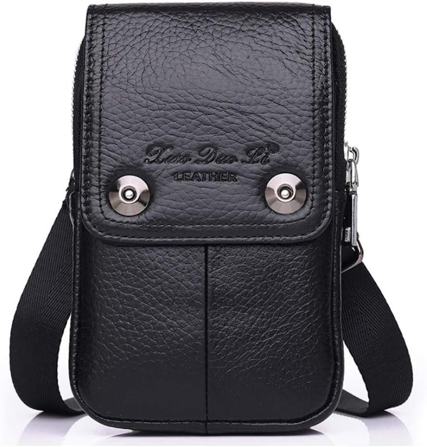 Leather Men Cellphone Belt Loop Holster Case Belt Waist Bag Mini