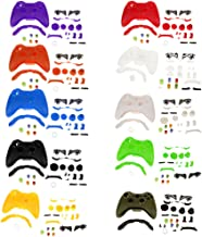 Baoblaze Full Housing Button Case Mod Kit Replacement For Xbox 360 Controller Clear