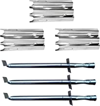 Hongso 3-PK Vermont Castings Gas Grill Replacement Kit Grill Burner and Heat Plate (SBC001, SPZ081)