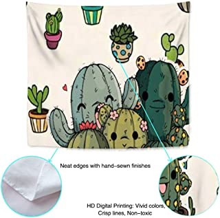 Sunshine ERosIon Popular Tapestry Wall Hanging, Newest Bohemia Hippie Tapestries Bedding Dorm Free hugs Succulent Plants Cartoon Image Potted (60inch51inch)