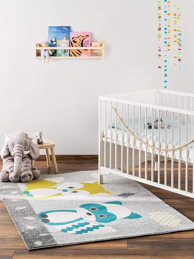 Teppich f/ür Spiel benuta Kinderteppich Noa Universe Multicolor 120x170 cm und Kinderzimmer