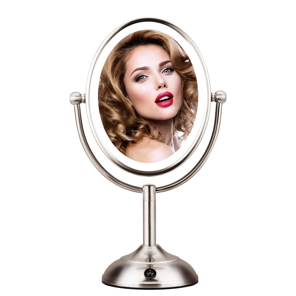 Lighted Makeup Mirror Magnifying Rotation
