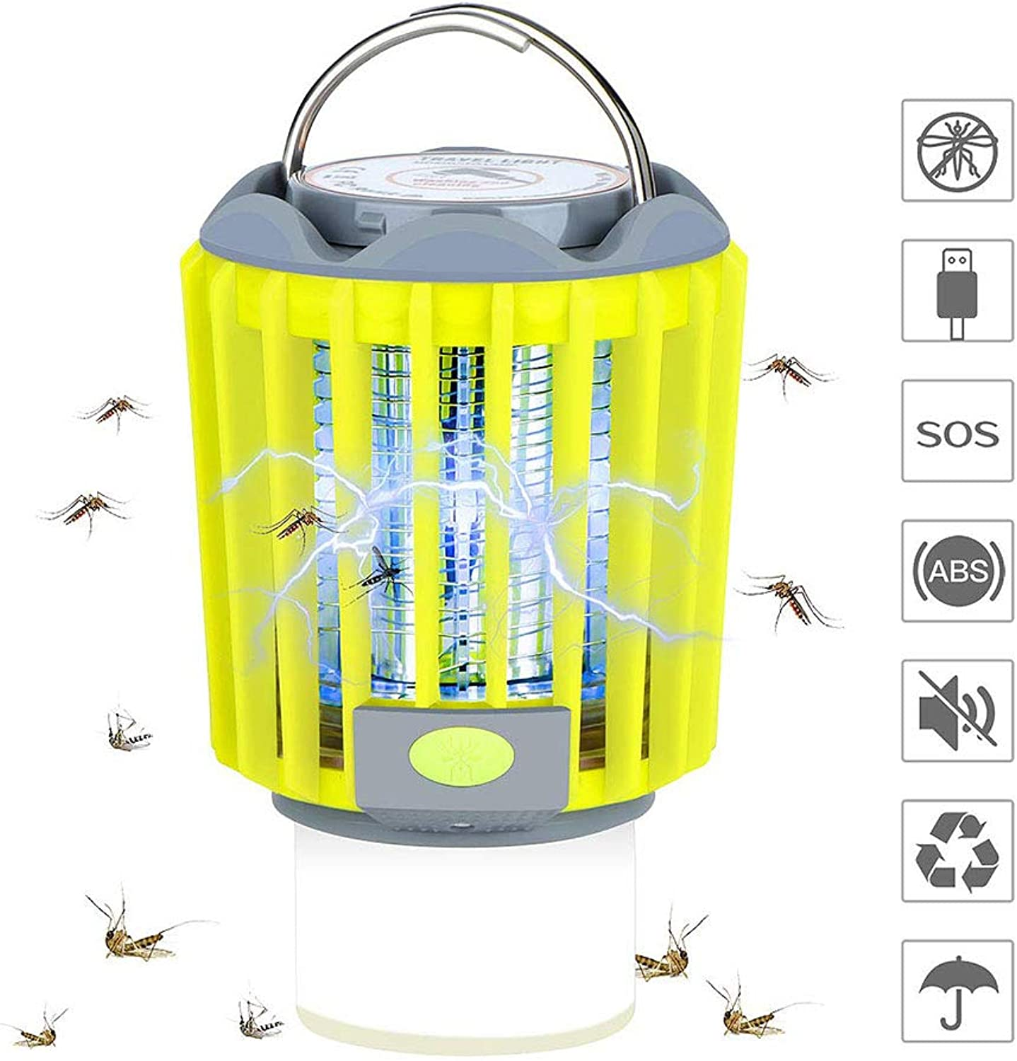 AWLLY 3 in 1 Mosquito killer lamp LED flashlight Camping light USB charging Waterproof IPX6 Electric shock portable Camping lamp Eliminate Mosquitoes