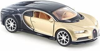 Welly Bugatti Chiron, Gold w/ Black 43738D - 4.5