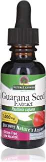 Nature's Answer Guarana Seed Extract Supplement with Organic Alcohol, 1-Fluid Ounce   Natural Energy Booster   Mental Clar...