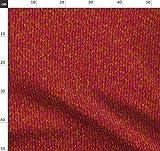 Rot, Mohn, Struktur, Garn Stoffe - Individuell Bedruckt von