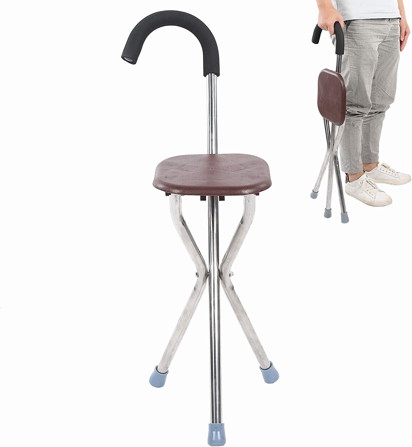 Pwshymi Cane Seat Fashionable Indianapolis Mall Folding fo Stool for New arrival Relaxion
