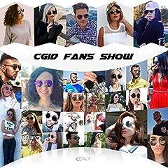 CGID E01 Retro Vintage Style Lennon Inspired Round Metal Circle Polarized Sunglasses for Women and Men #5