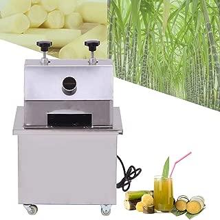 ZXMOTO Commercial Sugar Cane Juicer 110V Electric Sugar Cane Ginger Fruit Press Juicer With 304 Stainless Steel Rolls,25r/Min