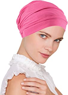 Lux Ultra Soft Bamboo Pleated Beanie Cap, Chemo Hats for Cancer