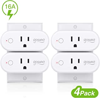 Smart Plug Gosund 16A Smart Home Wifi Outlet Work with Alexa Google Home,4 Pack Mini Socket with Timer Function and Overload Protection, Support High Power Appliance, FCC ETL Certification