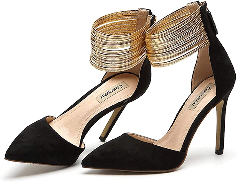 SANDALEN schwarz Stil High Heels Stiletto Absatzschuhe Der Der Der Frauen Die Neuesten Sexy Punkt High Heel Elegante Shallow Mund Hochzeit Schuhe (Farbe   schwarz 8.5cm, größe   38)  ff8c91