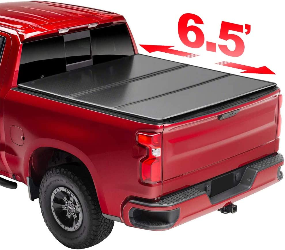 AntsGroup 6.5' Hard Trifold Tonneau Cover Truck Overseas parallel import regular item Eas for Bed Outstanding 0687