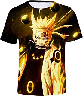 Bettydom Unisex Novelty Tee Tops 3D Printed with The Japanese Anime Naruto T-Shirts for Men