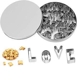 Emporte-Pièces, Alphabets Lettres Fondant Cookie Moule DIY en Plastique Symbole Cuisson Moule en Acier Inoxydable Alphabet...