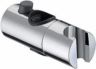 Shower Head Holder, BESTHINKY Replacement 19mm 22mm 24mm 25mm Adjustable Shower Bracket for Slider Height & Angle Adjustable Sprayer Holder on Slide Bar, Chrome (19mm)