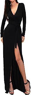 Women's USA Sexy Long Sleeve Tulip Wrap Slit Front Full...