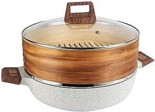 XJJZS Maifan Pierre Steamer antiadhésifs marmite à soupe grande capacité à haute température Porridge Santé Ragoût Wok Feu...