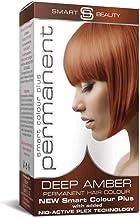 Smart Beauty Tinte de Pelo Permanente, Larga Duración Moda Color con Nutritivo Nio-Active Plex Tratamiento Capilar, 150ML - Ámbar, 150 Milliliters