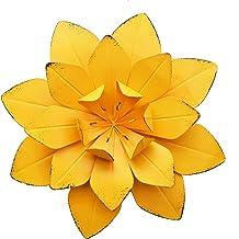 GIFTME 5 Yellow Metal Layered Flower Wall Decor for Bathroom Livingroom Garden Indoor or..