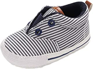 Auxma Chaussures de Toile pour bébés garçons,Chaussures de pré-routage Douces pour 0-18 Mois