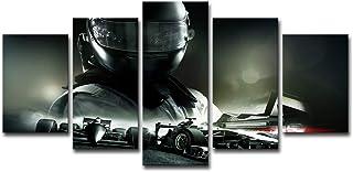 HD Imprimir Decoración para el hogar Sala de estar Corredor Pintura 5 F1 Racer F1 Racing Helmet