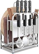 Home Living Museum / 304 Stainless Steel Knife Holder Cutting Board Rack Multi Function Racks Kitchen Storage Knife Dish B...