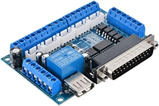 1pc 5 axis CNC Breakout Board with USB Cable for Stepper Motor Driver Controller MACH3 Computer Software