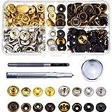 DILISEN 40 Juegos de Botones de Presión de Ropa Corchetes de Presión con Herramienta de Reparación para Cuero Artesanía Ropa (12,5 mm)