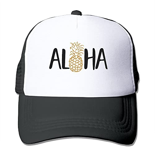bdd742e96b6 Waldeal Adult Aloha Beaches Pineapple Baseball Hat Black