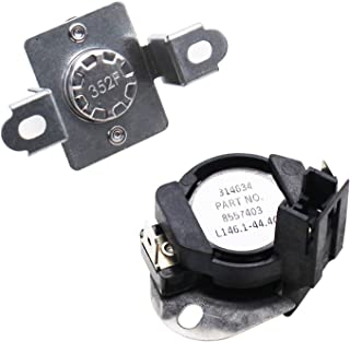 S-Union 280148 (8557403&8318314) Thermal Cut Off Kit for Whirlpool Dryer Replaces Part Number 8557403 8318314 PS991443 Compatible with Maytag MEDE900VW NED7500VW1, Whirlpool WED7300XW WED7400XW WED74