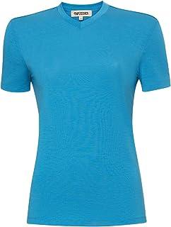 100% NZ Organic Merino Wool Lightweight Women's T-Shirt Short Sleeve Crew Tee