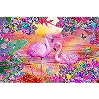 デジタル絵画 カラフルな - 油絵 数字キットによる絵画 塗り絵 手塗り 動物の鳥- DIY絵 デジタル油絵40x50 センチ (diyの木製フレーム)